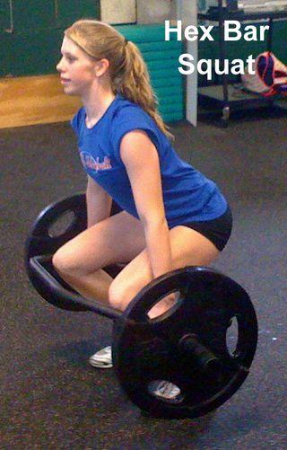 Hex bar squat